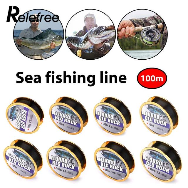 Best Price Sea Rod Main Sub Line Durable Fluorocarbon Fishing Line Lure Leader 100M
