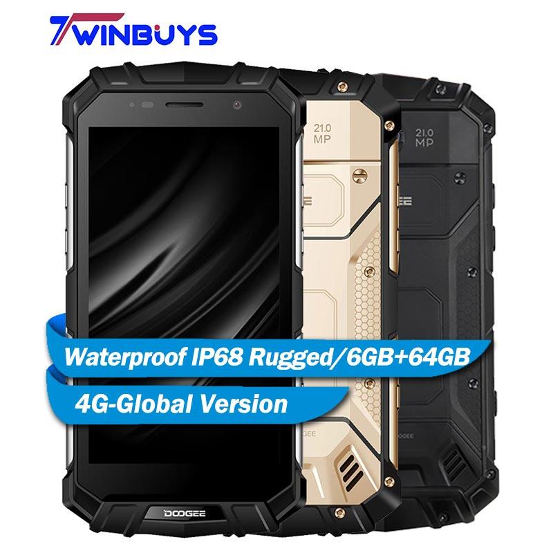 """DOOGEE S60 IP68 防水スマートフォン 6 ギガバイト + 64 ギガバイト 5.2 """"エリオ P25 オクタコア Android7.0 5580 2600mah 21.0MP 4 グラムグローバルバージョン頑丈な電話  グループ上の 携帯電話 & 電気通信 からの 携帯電話 の中 1"""