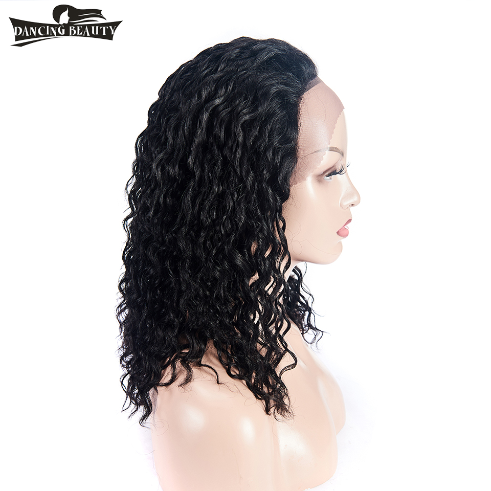 DANCING BEAUTY Brazilian Water Wave Lace Front Human Hair Wigs For Women Non Remy Hair Lace Wig 130% Density Pre Plucked