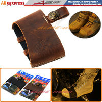 Newest Hot sell Motorcycle Pedal Gearshift Leather Shift Sock Boot Shoe Protector With 3D Logo Brown