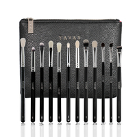 YAVAY 12 PCS Set Eyeshadow Eyeliner Blending Pencil Brushes Luxury Professional Complete Eye Makeup Brush Set