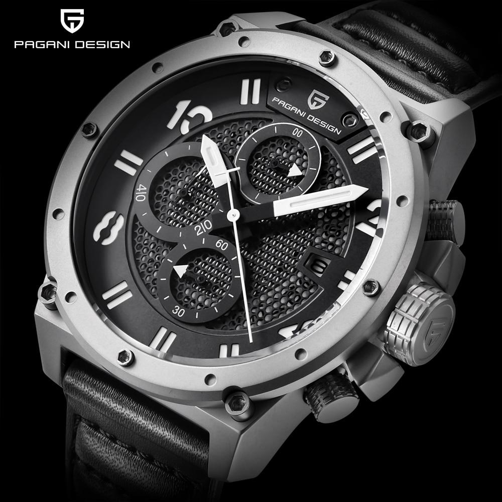 2017 Men Luxury Brand Pagani Design Multifunction Sport Watches Dive 30m Chronograph Military Quartz Watch Man Relogio Masculino