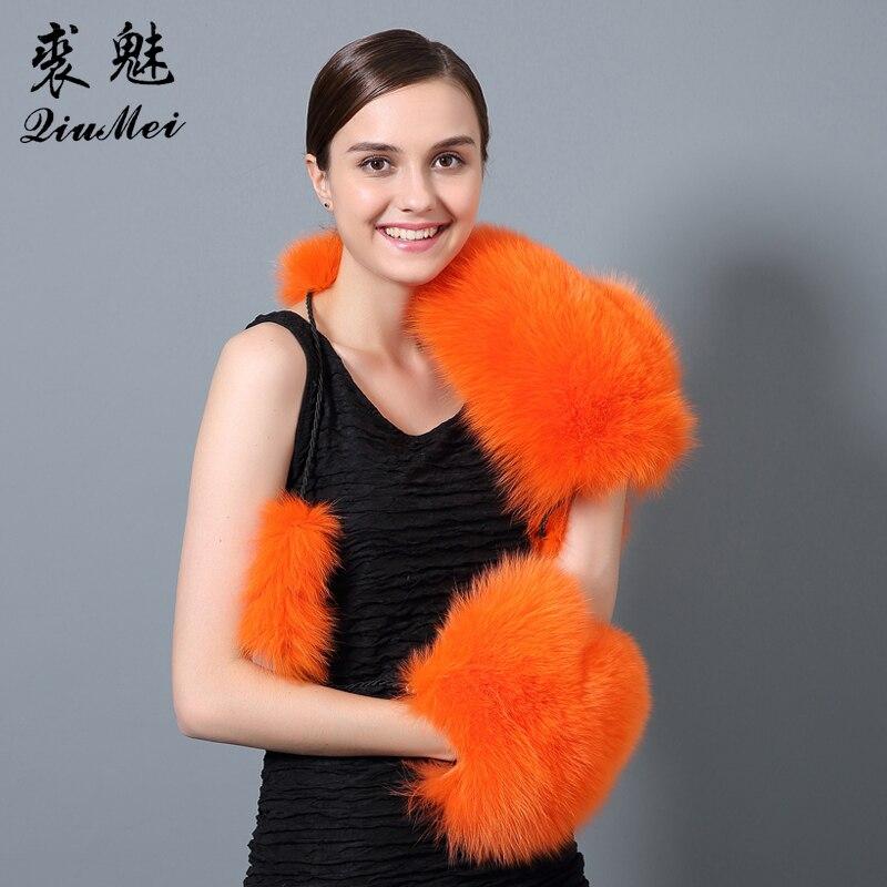 QiuMei Ձմեռային մորթյա ձեռնոցներ կանանց - Հագուստի պարագաներ - Լուսանկար 2