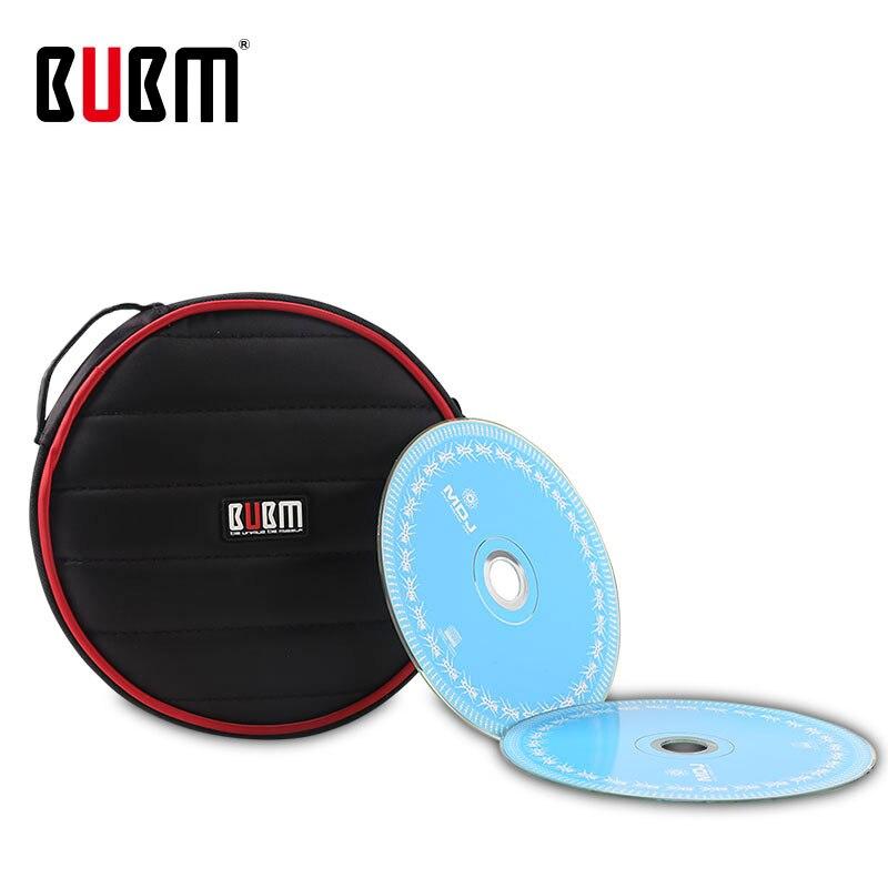 BUBM Bag For Cd Holder Travel Bag Case Sleeves Packing 32 Pc Capacity CD / DVD Storage Box Holder Cover Wallet Round Shockproof