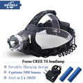 Rechargeable Headlights CREE xml t6 torch 10W 4 mode head lamp Aluminum headlight LED Headlight Flashlight Lantern