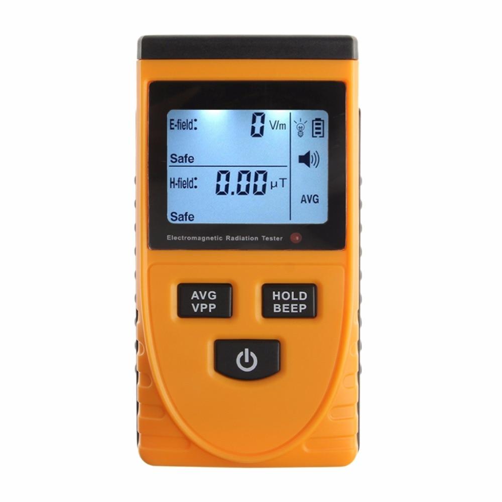 EMF Meter Digital Electromagnetic Radiation Detector LCD Dosimeter Tester Tools Detectors emf meter electromagnetic radiation detectors handheld mini digital lcd dosimeter tester for research harmful exposure measure