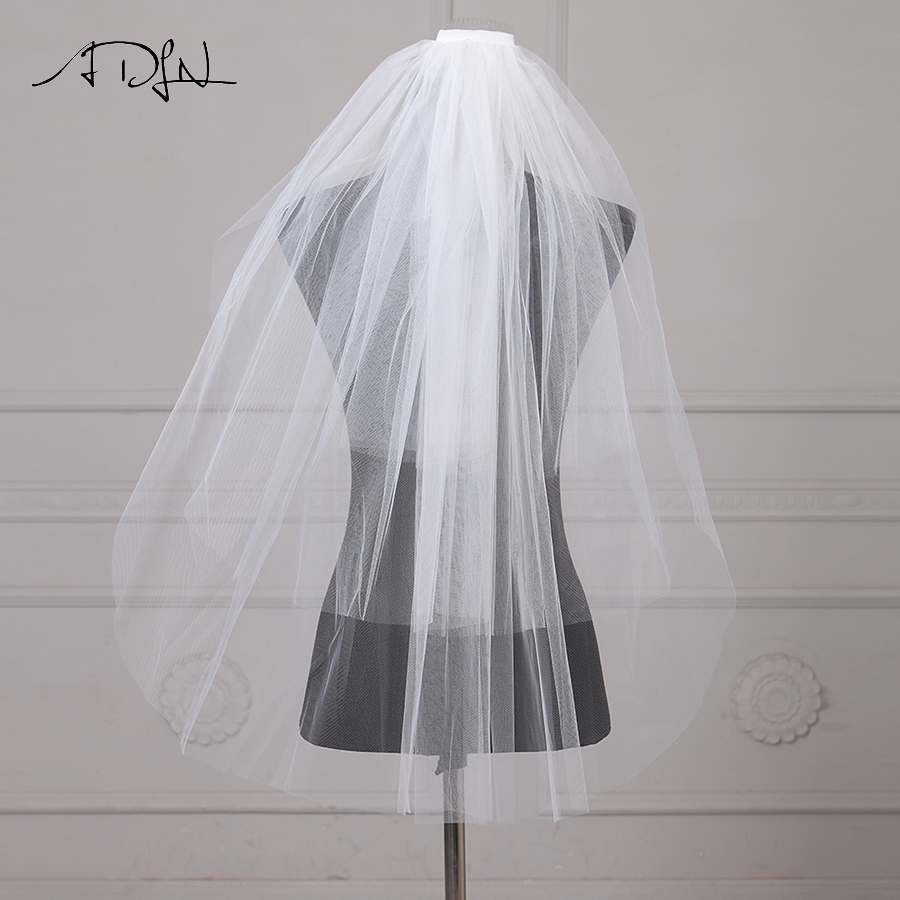 ADLN Elegant Wedding Veils Three Layers Bridal Veil With Combe For Wedding Party Tulle Veil