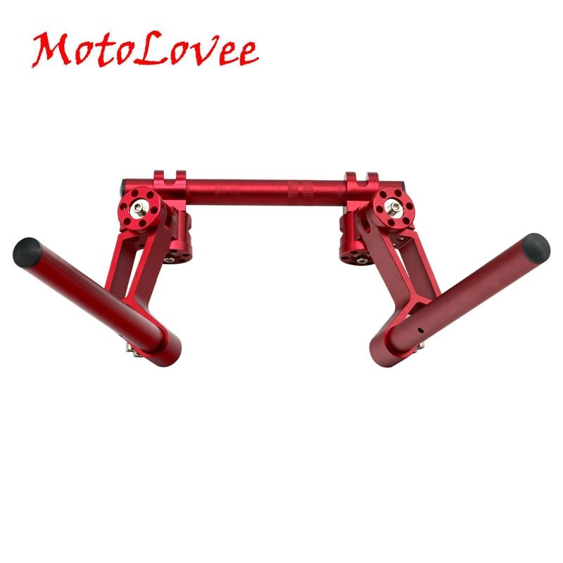 MotoLovee Motorcycle CNC 22mm Adjustable Steering Handle Bar 7 8 Removable Handlebar System Set for 125cc