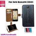 Nova! Capa protetora de couro capa para Ark benefício S501 SmartPhone cartão titular carteira em estoque! Transporte da gota livre