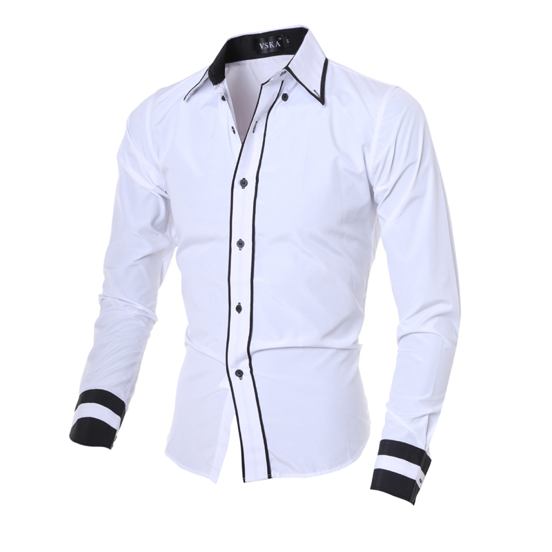 ff87f1e2819b Mttuzb 5055 Fashion Personality Men Long Sleeve Slim Shirt Men S
