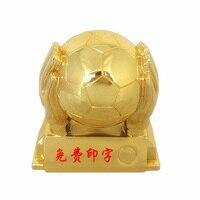 Resin gold plated football cup top scorer award The goalkeeper gold glove award trophies MEDALS goalkeeper trophy