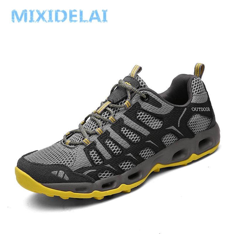MIXIDELAI New Summer Men Sneakers Fashion Spring Outdoor Shoes Men Casual Men'S Shoes Comfortable Mesh Shoes For Men Size 39-46