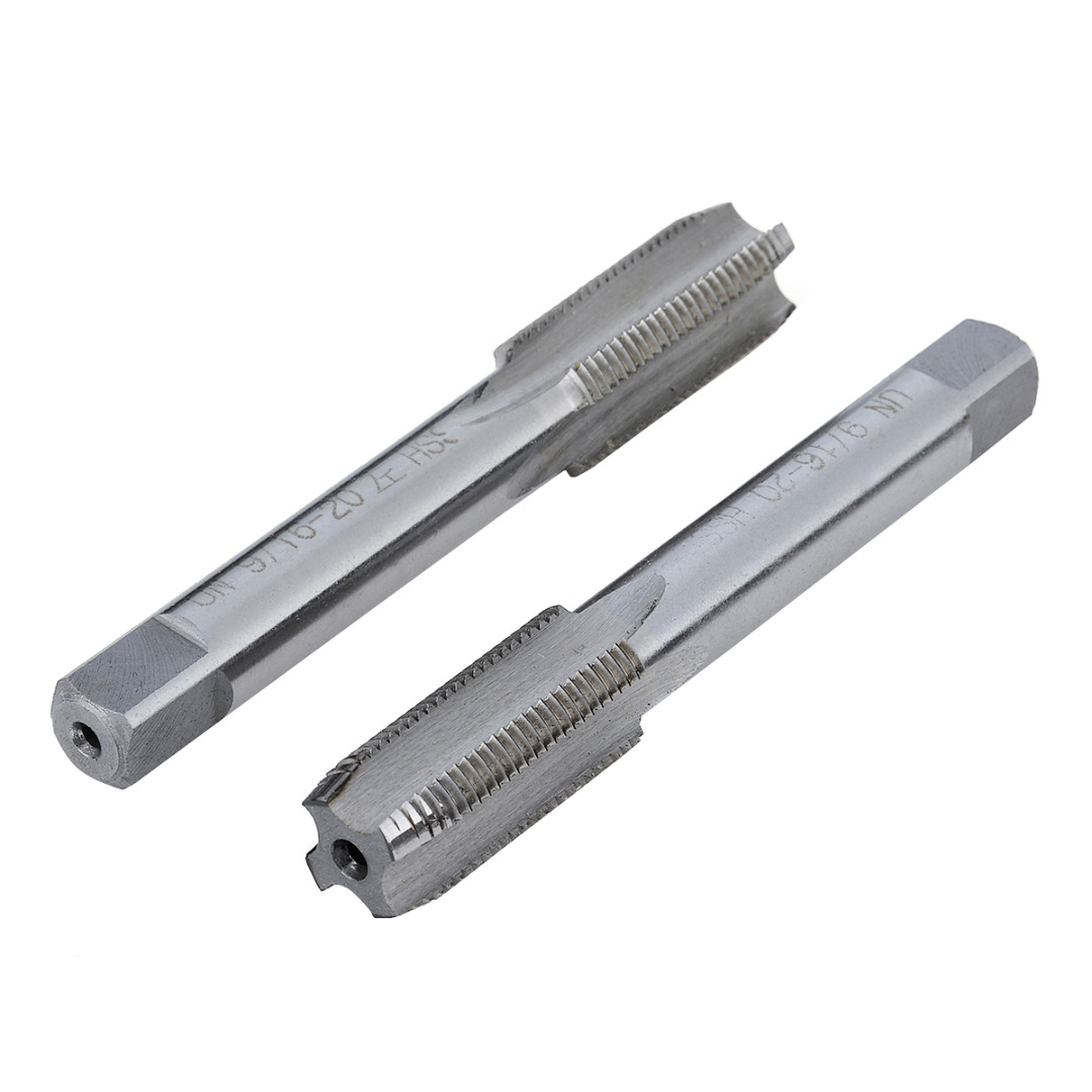 Mayitr 2PCS Left/Right 9/16 -20 TPI Taper Pipe Tap Unified USA Standard Threads HSS Taper Tap High Precision Product g 1 1 4 11 tpi bsp parallel british standard pipe tap