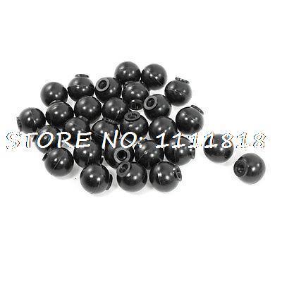 30 x Machine Control Handle Knobs Solid Balls Black 32mm Diameter 8mm Bore