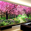 Romantische Sakura Bäume Diamant Stickerei, Landschaft, 5d Diamant Malerei Kreuz Stich, diy Diamant Mosaik Hand, schlafzimmer Decor