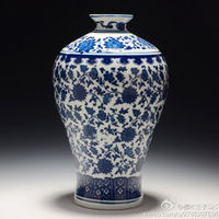 Exquisite Archaize Chinese Blue and White Porcelain Vase, Home Decorate Vase with Qianlong mark
