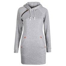 Fashion Autumn Dresses Women Hoodie Dress Pocket Long Sleeve Mini Dress Casual Dress Women Clothing  LJ5841E