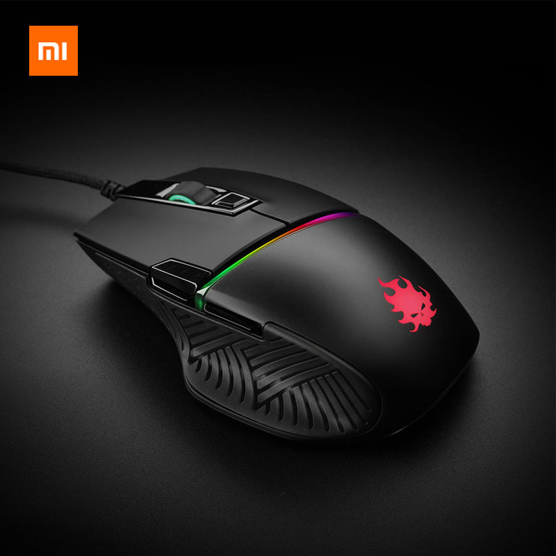 Xiaomi Game Mouse Blasoul Y720Lite 1000GHz 12000DPI RGB Backlight Programmable Mouse Wired Optical Gaming Mouse Max Speed 50G