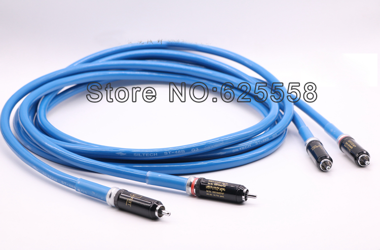 Pair Siltech G3 ST 48B RCA Audio Cable with WBT 0102AG RCA Plug Interconnect Cable