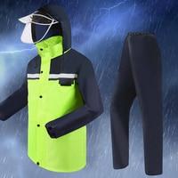 Outdoor Rain Coat Waterproof Men Overalls Motorcycle Bicycle Poncho Men Raincoat Women Camping Abrigos Pants Rain Suit R5C097