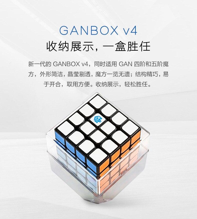 Nouveau GAN460M 4x4x4 puzzle cube magique Twist Vitesse Magnétique Professionnel Gan 460 M Cubo Magico 4x4 cube 49mm avec Pacakge Au Détail