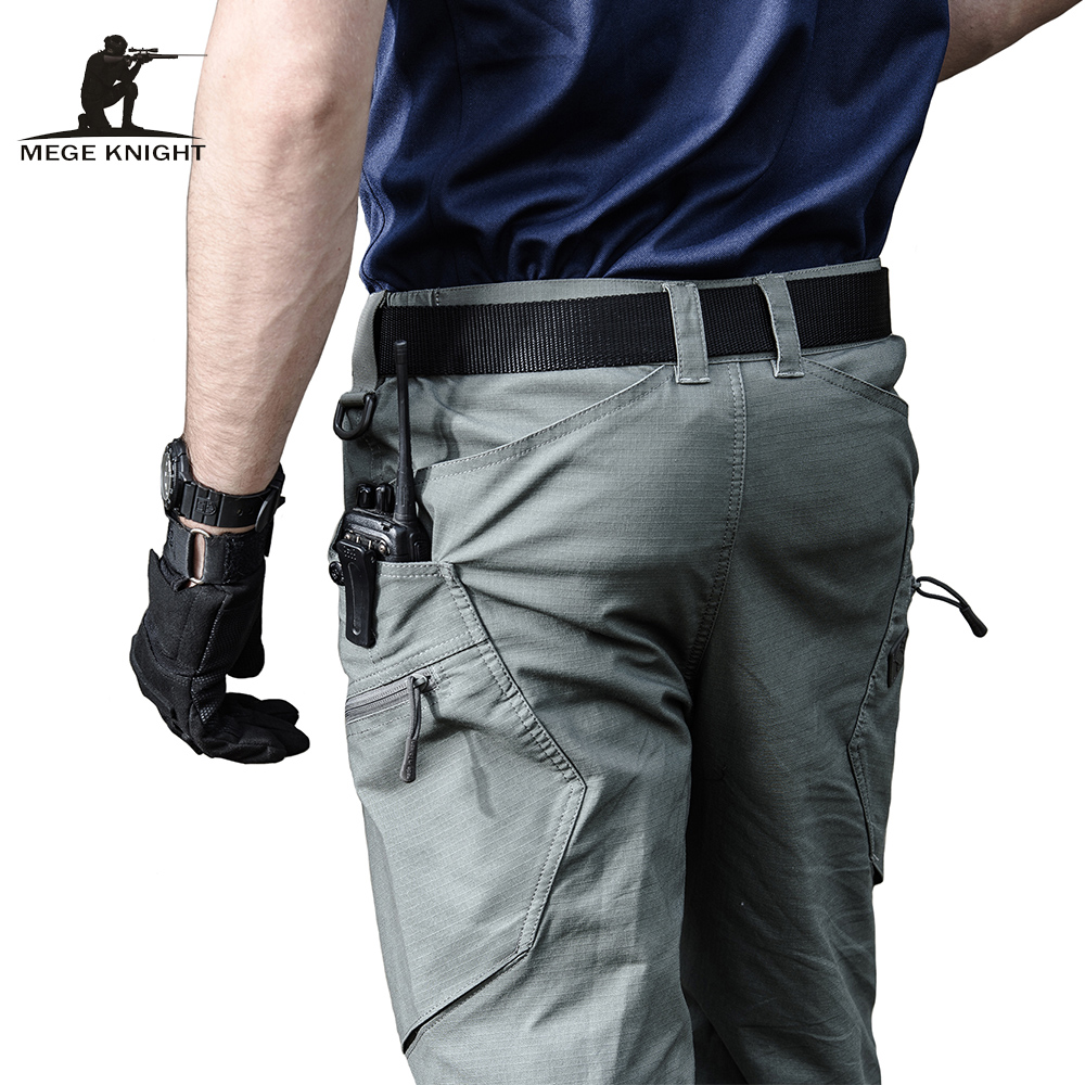 Mege Brand Military Army Pants Men's Urban Tactical Clothing Combat Trousers Multi Pockets Unique Casual Pants Ripstop Fabric