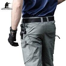 Mege calças militares do exército, calças táticas urbanas de combate, multi bolsos, únicas, casuais, tecido rasgado