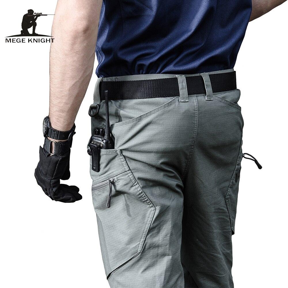 Mege marca ejército pantalones hombres urbano ropa táctica pantalones Multi bolsillos única pantalones casuales pantalones de tela Ripstop