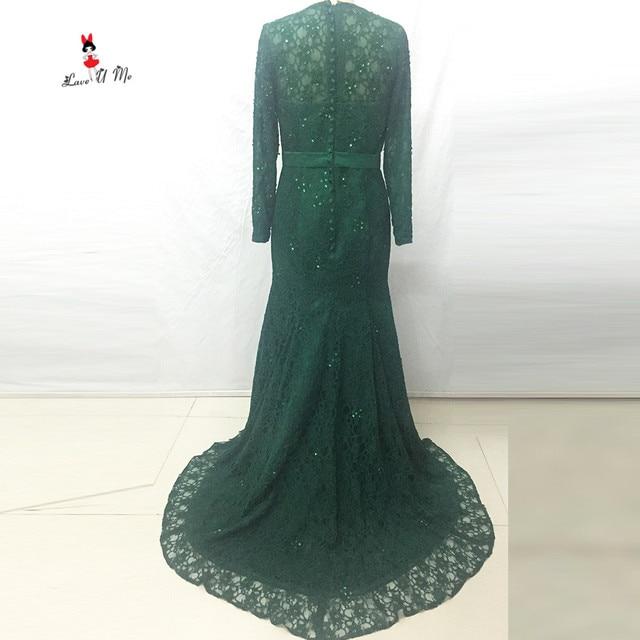 Vestido Longo de Festa Elegante Grüne Spitze Abendkleider Lange ...