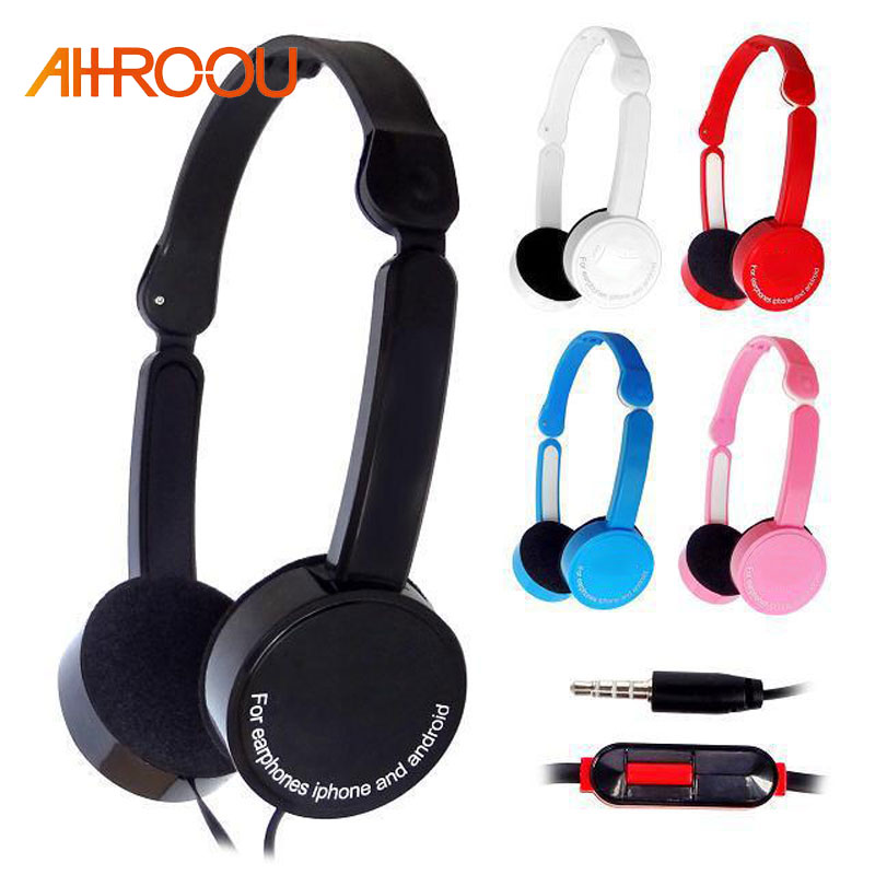 Wired Headphone 3.5mm Stereo Headset Foldable with Microphone Earphone big auriculares For iPhone Phone Computer