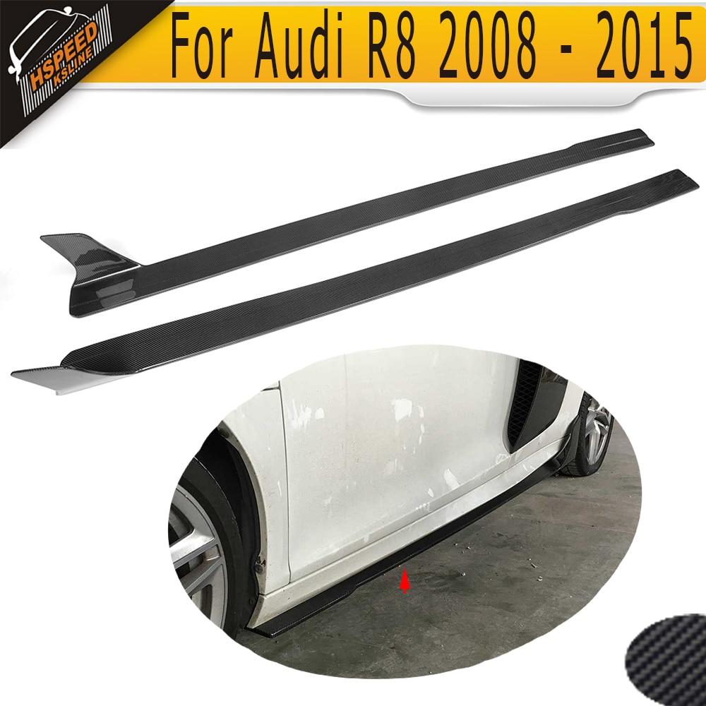 Szénszálas autó oldalsó szoknya az Audi R8 2008 - 2015 oldalsó - Autóalkatrész