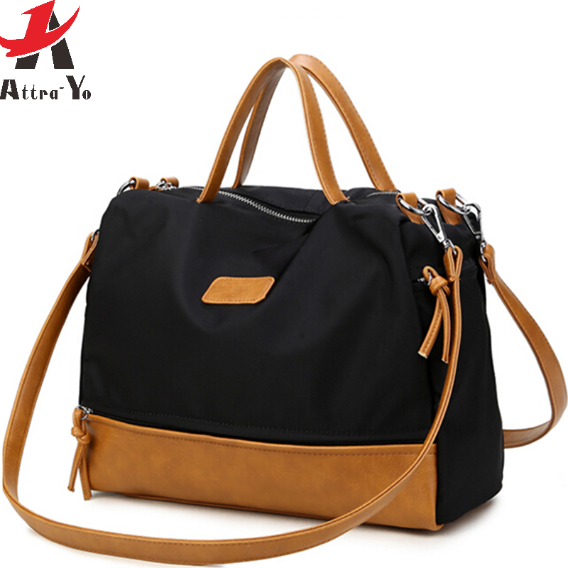 Attra-Yo Top-Handle Bags women handbag Fashion Motorcycle Bag Large Women Messenger Bag Simple waterproof Shoulder Bag LM4127ay Сумка