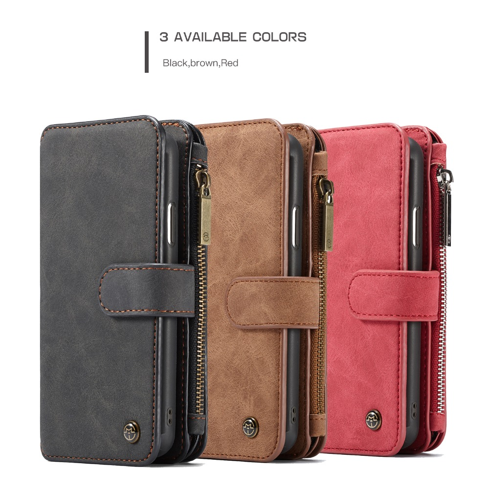 Image 5 - For iPhone 11  Wallet Case 2 in 1 Detachable Magnetic Leather Cover Case for iPhone XS Max iPhone SE 2020 XS 7 7Plus 8 6S CoqueFitted Cases   -