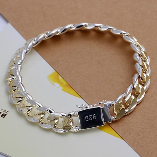 5f69161b01ea H091 925 enlaces cadenas pulseras de plata para hombre pulsera de oro  hebilla cuadrada mujeres pulseras y brazaletes de la joyería pulseira  feminina ...