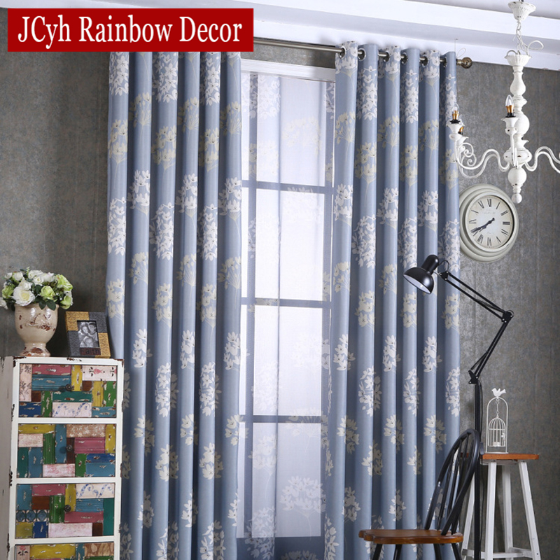 Foral Blackout Curtains For For Living Room Modern Blue Window Curtains For  Bedroom Kitchen Curtains Full Shade Drapes Blinds