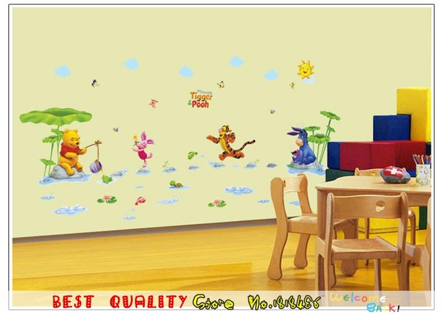 Winnie The Pooh Wall Sticker Home Decorartion For Kids Room Decor ...