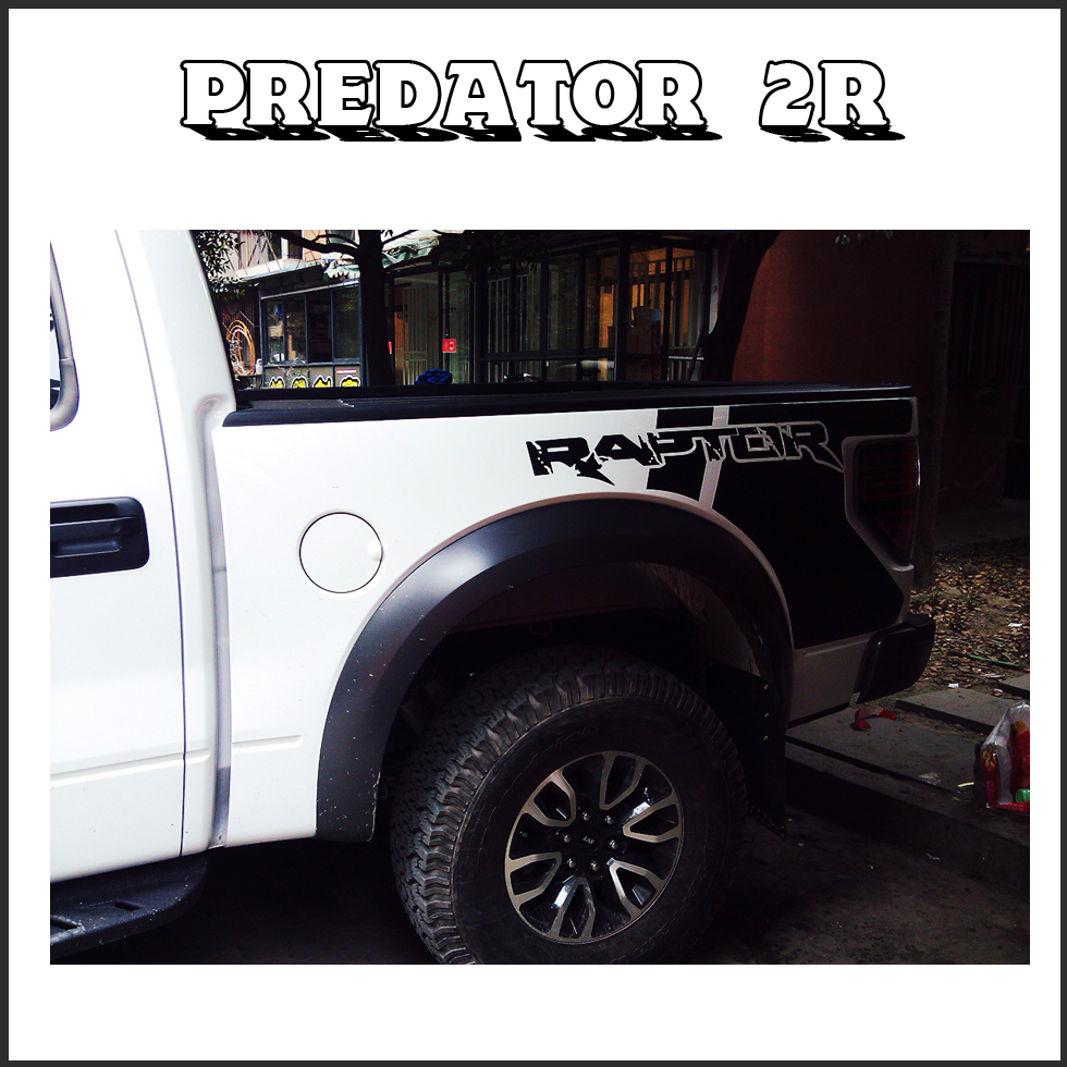 predator body rear tail side graphic vinyl decalsbody tail side graphic vinyl decals for Ford FORD F150 RAPTOR 2009 -2014