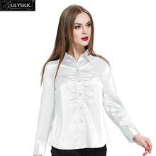 Lilysilk Silk Pure Blouse Shirt Long Sleeve Pajamas Women Female Summer 2016 Blusas Solid 22 Momme Clothes Luxury Ladies Tops