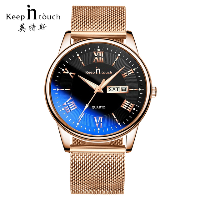 KEEP In Touch Top Brand Mens Watches Military Business Calendar Quartz Watch Men