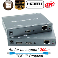 ZY DT209 200m HDMI Over IP Network Extender With IR 1080P HDMI Via RJ45 CAT5 CAT5e CAT6 LAN Extensor 656ft Like HDMI Splitter
