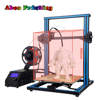 A-10S 3D Printer Desktop DIY Kit 0.4mm Nozzle with Dual Z-axis FREE PLA 300*300*400MM