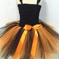 Baby Girl Tutu Vestido de Abóbora do Dia Das Bruxas Meninas Traje Do Partido Crianças Da Criança Do Bebê Vestidos de Tutu Vestido de Princesa de Aniversário do Festival de Dança