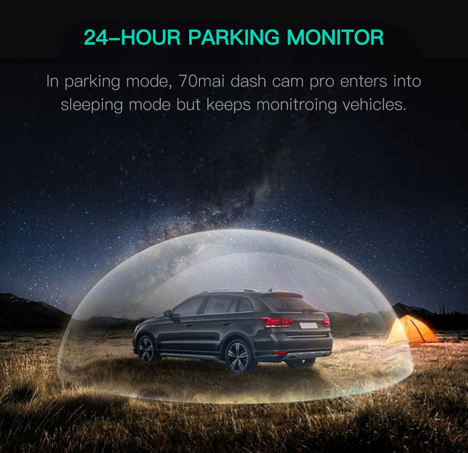 70mai Dash Cam pro Car DVR 1944P with Night Vision 2