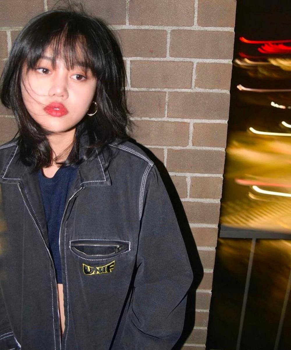 Turn Rayed New Vestes Rétro Lâche down Broderie Punk Femmes Col Denim Lettres Noir Manteau Lavé Vintage Zipper yZyqCTv