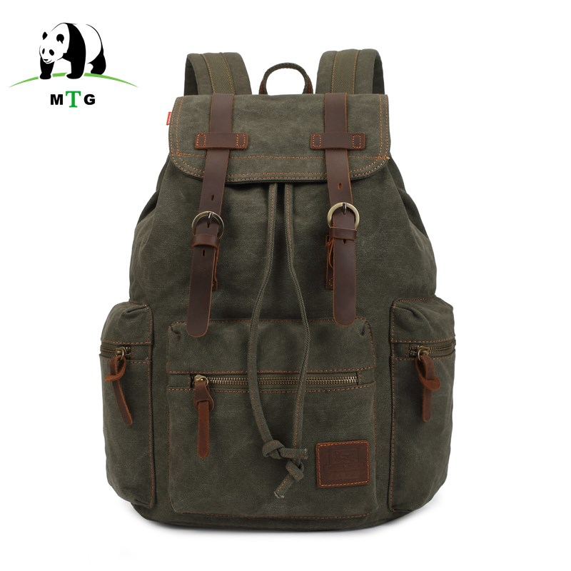 MTG Brand Man's Canvas Backpack Travel Schoolbag Male Backpack Men Large Capacity Rucksack Shoulder School Bag Mochila Escolar goog yu man s canvas backpack travel schoolbag male large backpack men large capacity rucksack shoulder school bag