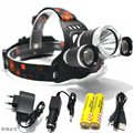 T6 Xm-L Led Headlight 8000Lm Headlamp Flashlight Head Torch Linterna Cree Xml T6 With 18650 Battery/Ac Car Charger Fishing Light