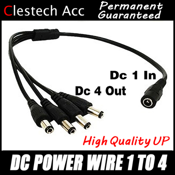 цена на sale 1PCS 1DC Female To 4 Male plug Power Cord adapter Connector Cable Splitter for CCTV Security Camera LED Strip free shippin