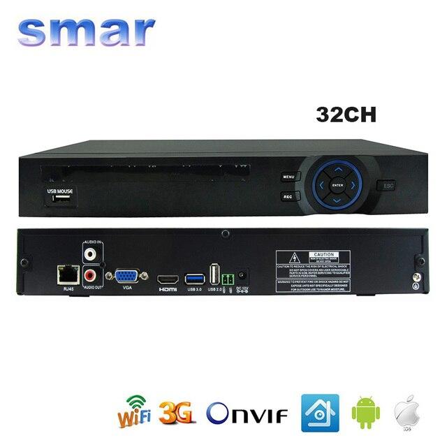 FULL HD de 32 Canales de 1080 P NVR del CCTV 16CH NVR 8CH 5MP 3MP 2 SATA HDD XMEYE ONVIF P2P HDMI VGA CCTV Grabador de Vídeo de la Ayuda 3G WIFI
