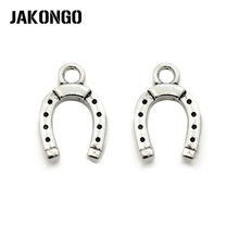 10Pcs/lot Antique Silver Plated Stirrup Horseshoe Charm Pendant Bracelets Jewelry Findings Accessories Making Craft DIY 14x10mm
