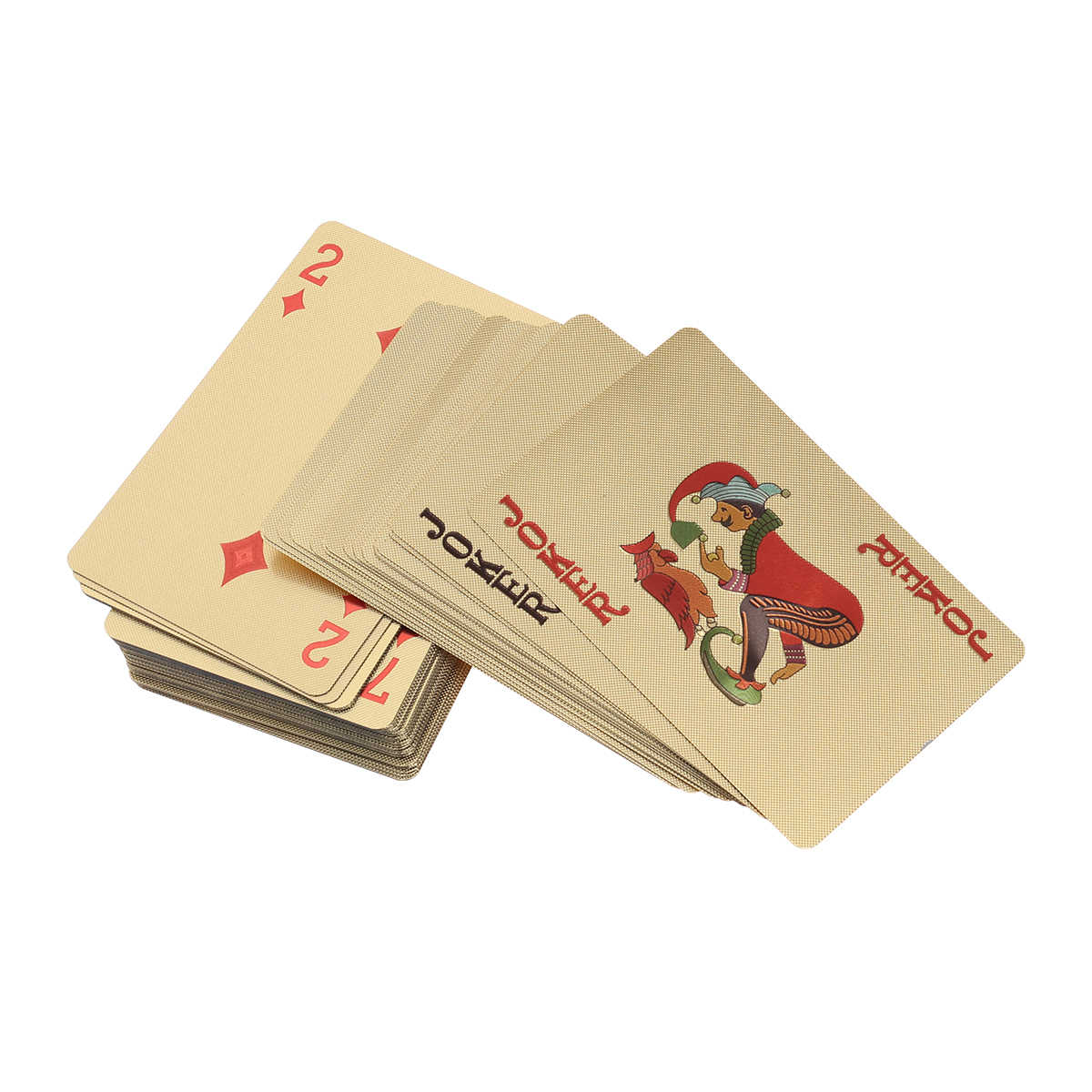 Позолоченные игральные карты из фольги покерные настольные игры бури Халифа Джокер колода (золото)